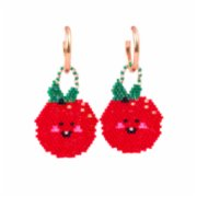 Pemy Store  Happy Tomato Charm Earrings