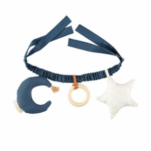 Nobodinoz  Star And Moon Pram Chain