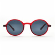 Looklight  Leon Jelly Red Unisex Sunglasses