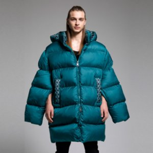 XUMU  Chansonnier A Giant Puffer Coat With Flashy Pattern