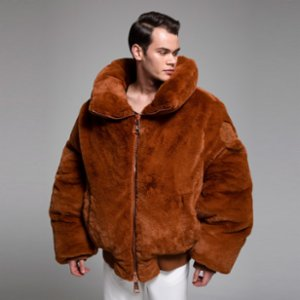 XUMU  Kanun A Giant Plush Coat With Rib Knitted Waist And Wrist