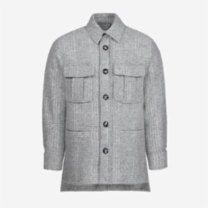 Faund  Plaid Wool Overshirt Jacket