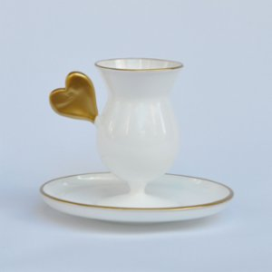 Martius  Heart Coffee Cup And Saucers