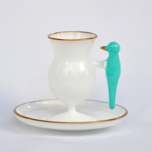Martius  Ketzal Coffee Cup And Saucers