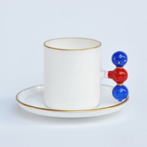 Martius  Red Bubble Coffee Cup And Saucers