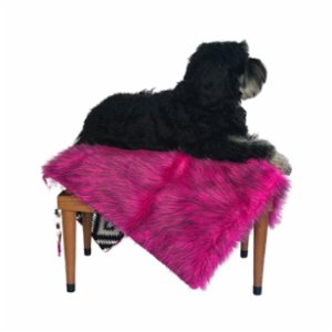 Pawtools  Faux - Fur Bedding Dog Mat