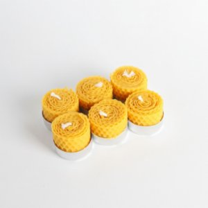 Root Aromaterapi  Natural Beeswax Tealight ( 6 pcs )